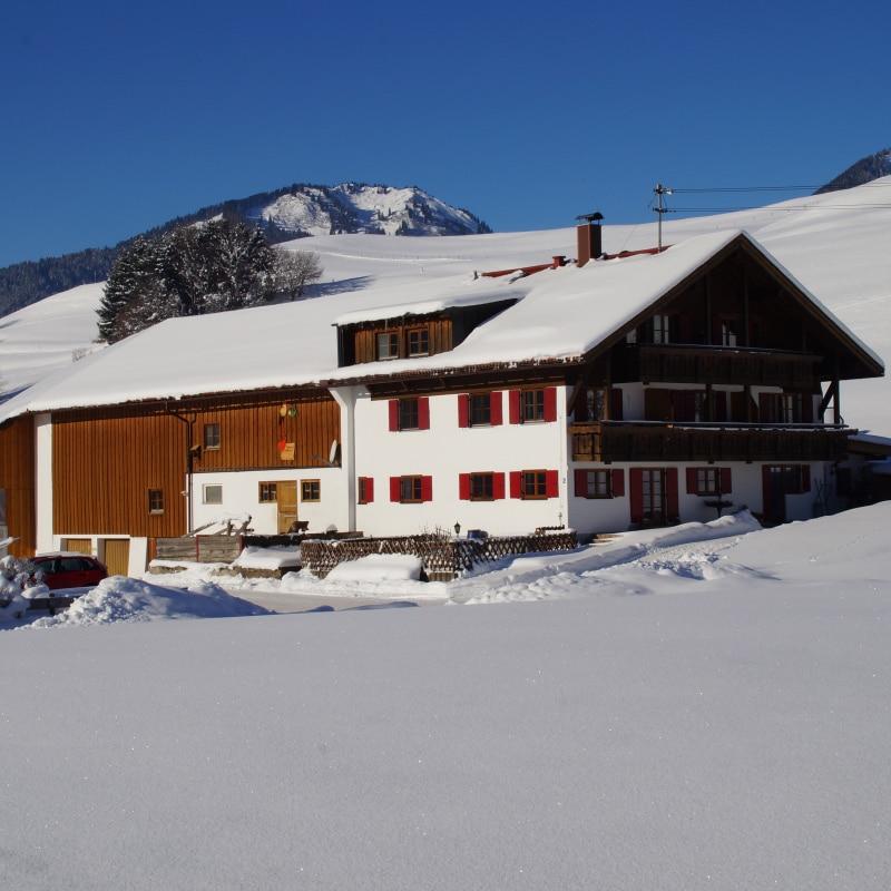 Ferienhof Vogler im Winter | Ferienhof Vogler in Fischen i. Allgäu